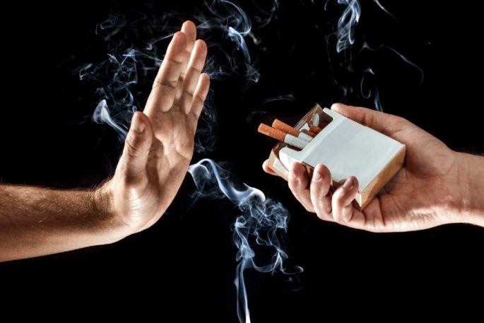 hand up stop smoking