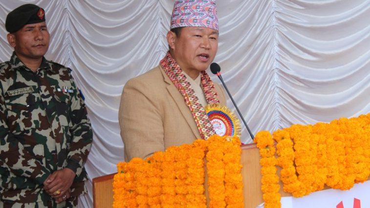 Sherdhan rai chief ministar province 1