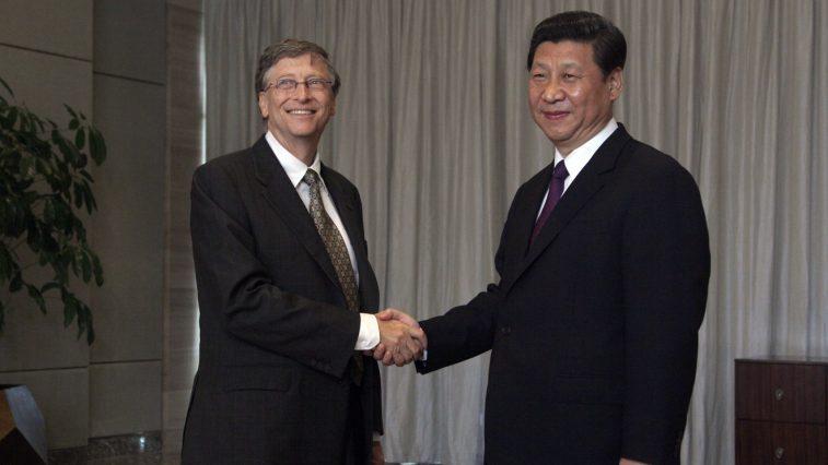 Xi Jinping and Bill Gates