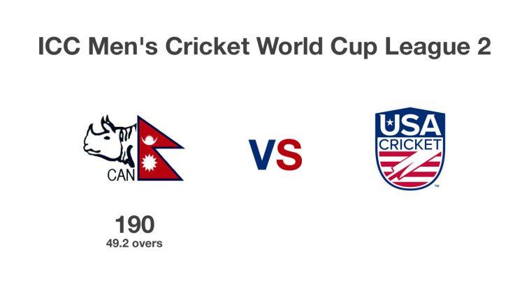 nepal vs usa first innings