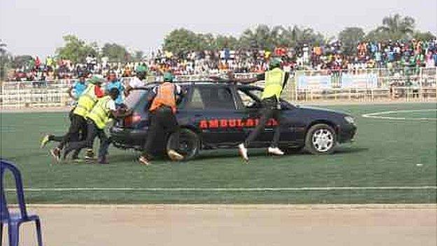 Chineme Martins ambulance