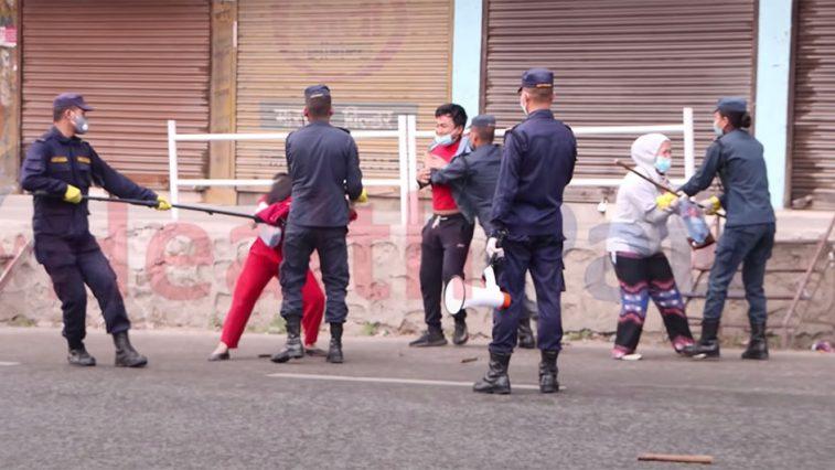 nepal lockdown police force kalanki
