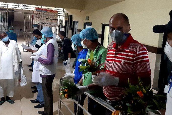 Covid 19 Patient Discharge form Gandak Hospital Parsa 1230