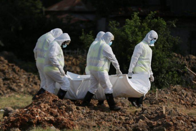 coronavirus dead body