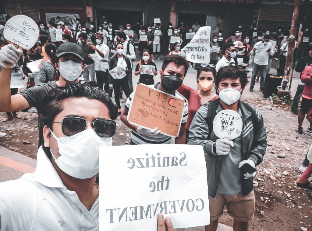 chitwan protest 2