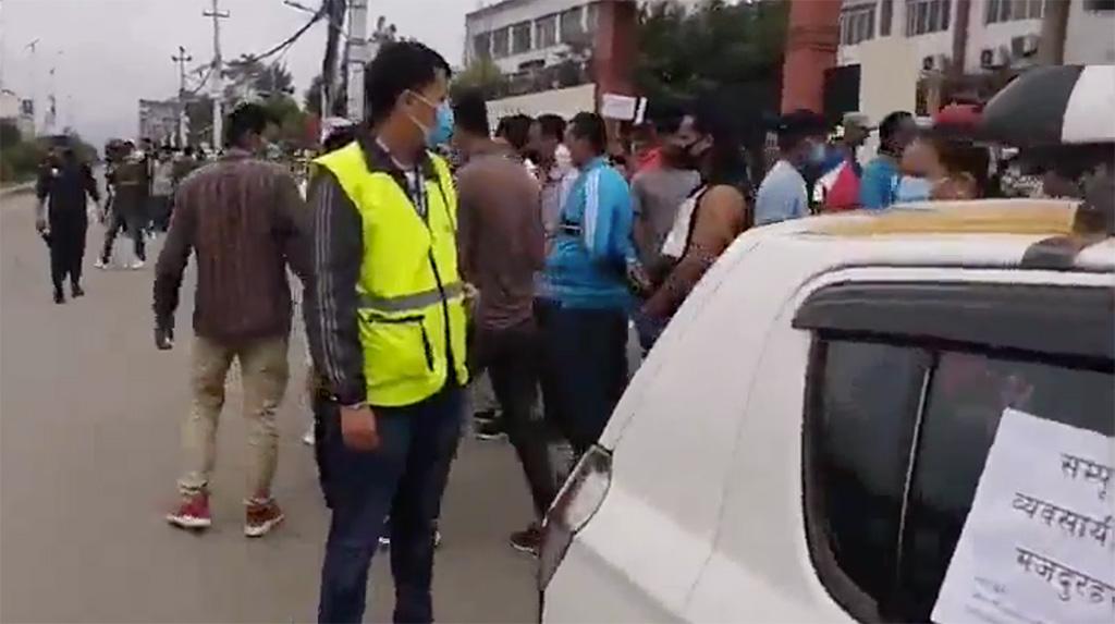 taxi protest covid