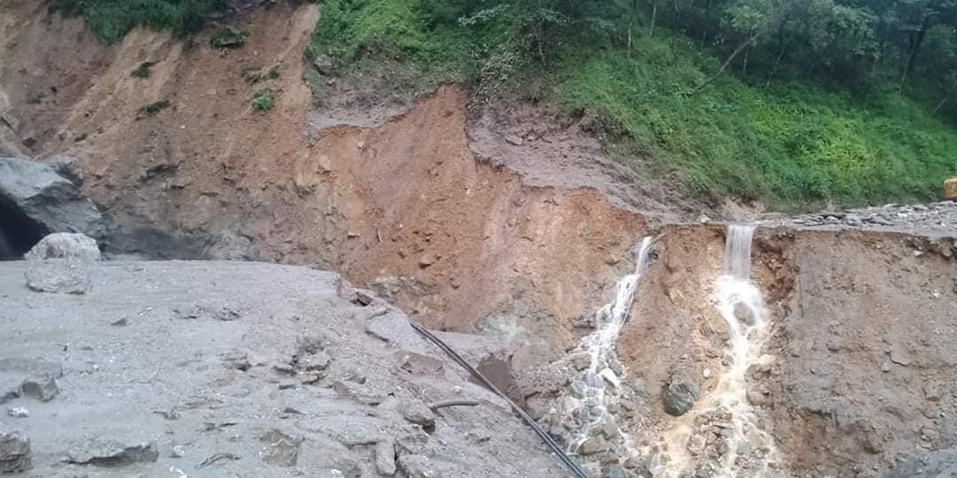 bulkute landslide after heavy rain
