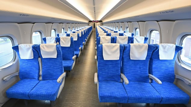 inside bullet train