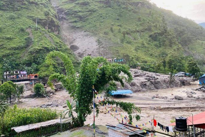 sindhupalchowk landslide flood 1