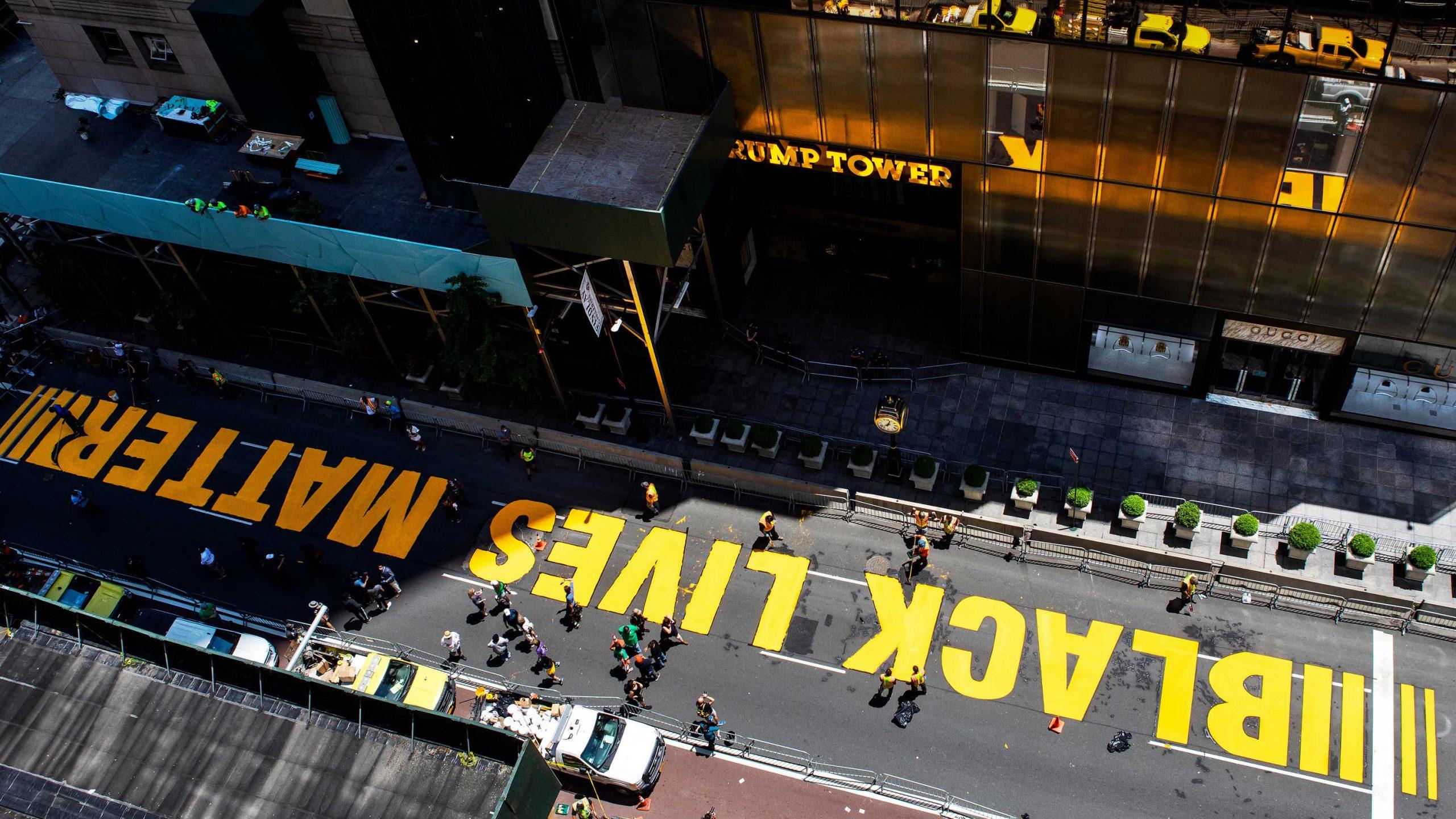 trump tower black lives matter newyork scaled