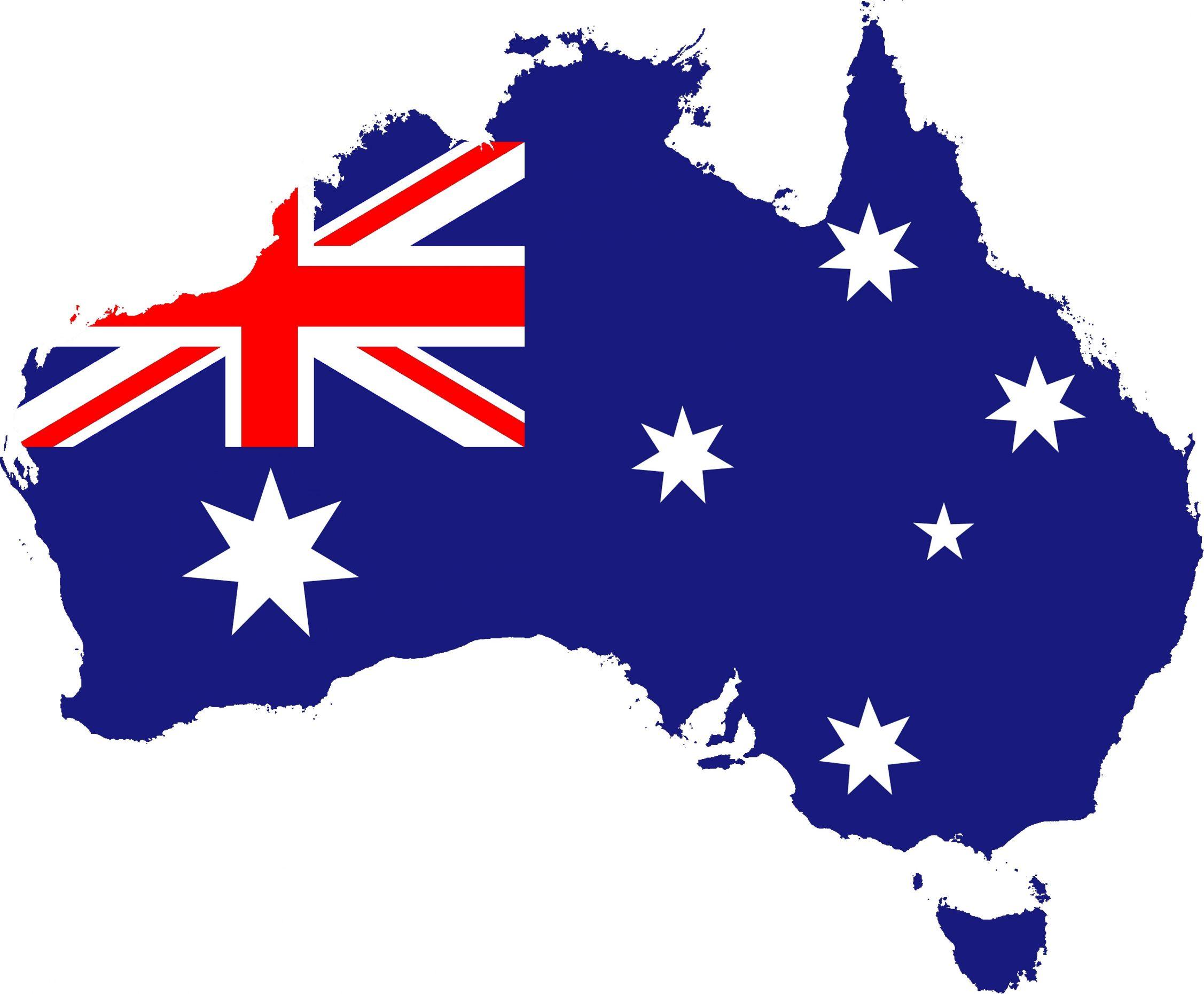 australianflag map
