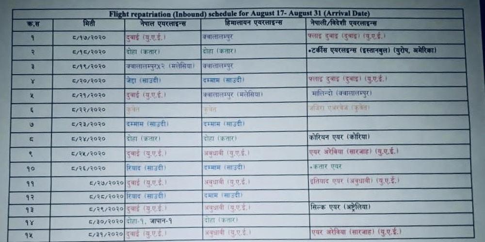 flight resuce new schedule