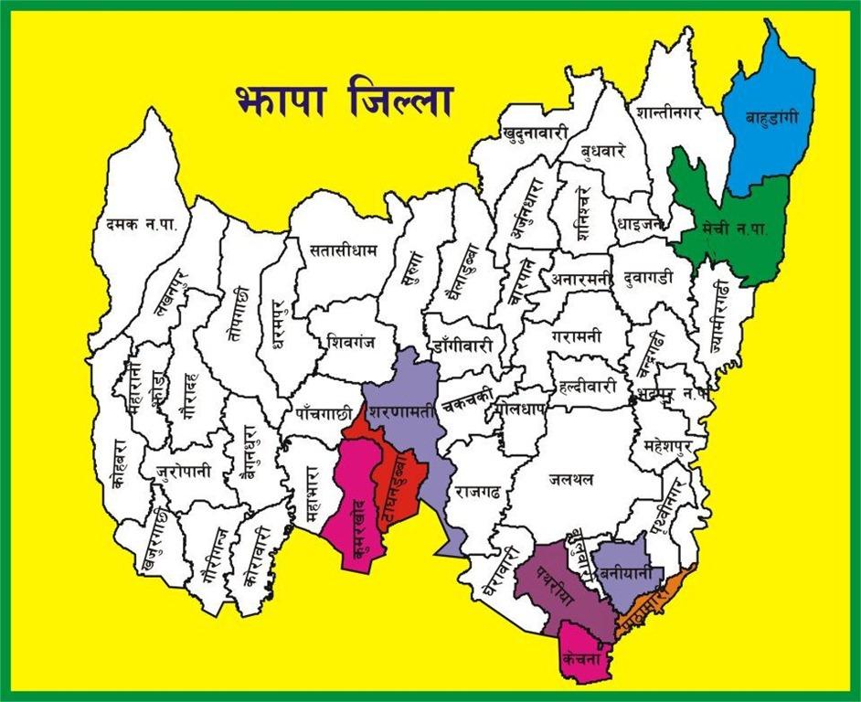 jhapa map