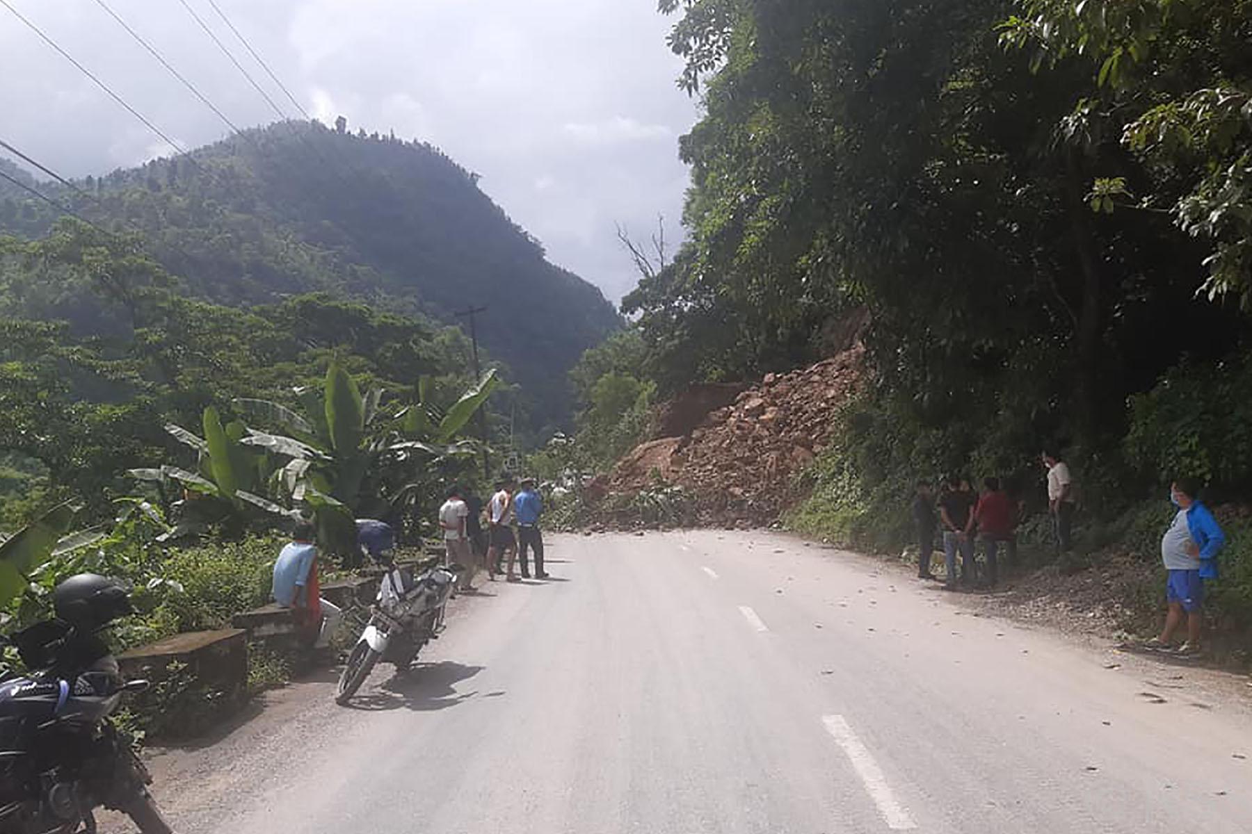 prithvi highway landslide
