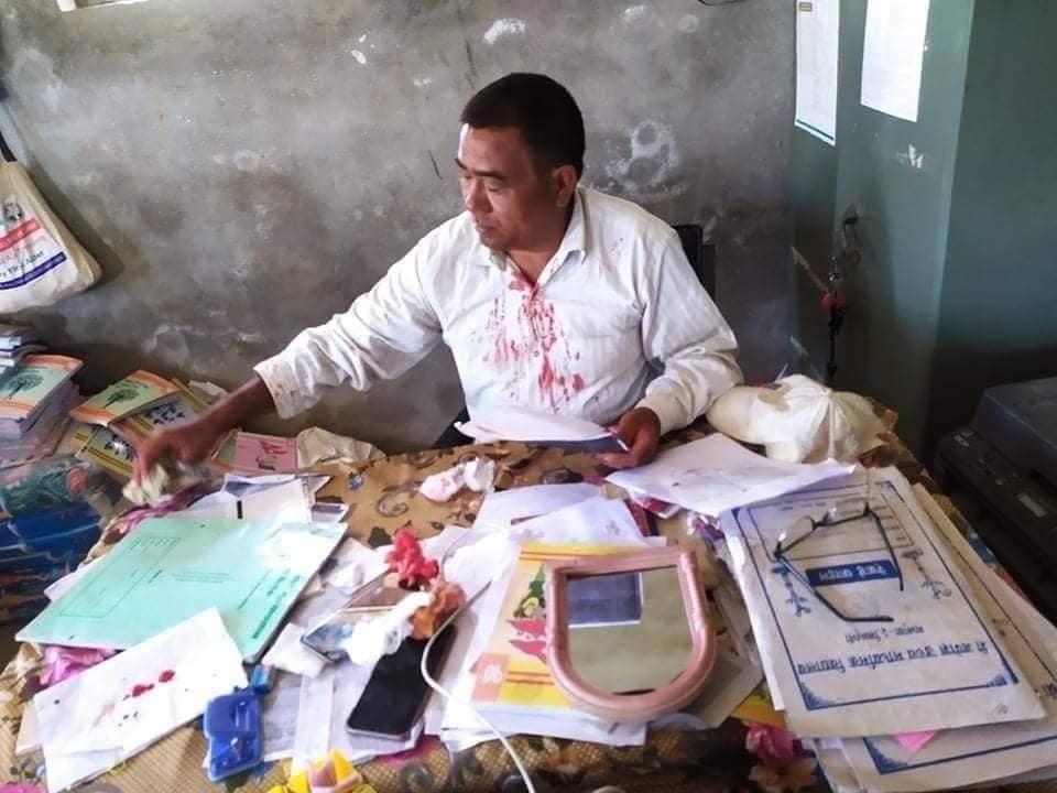 teacher beaten