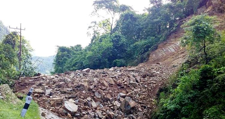 landslide tribhuwanhighway