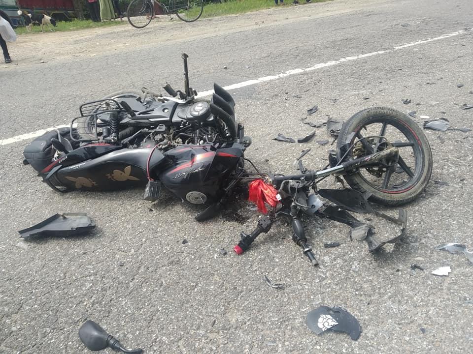 rajaiya accident bike