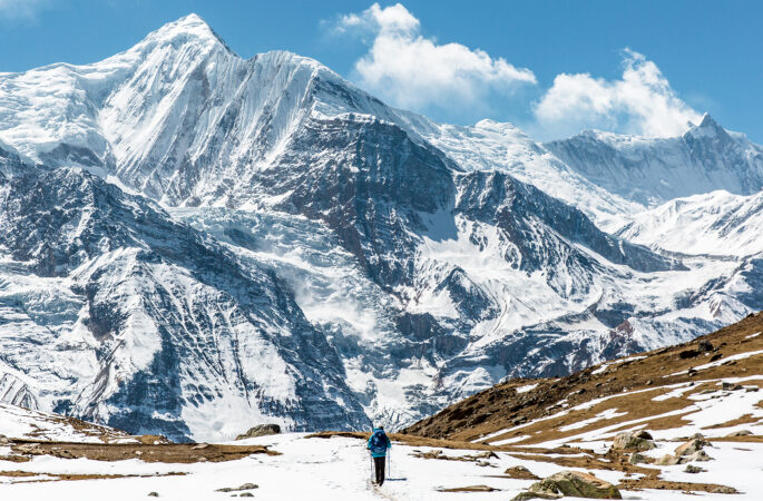Annapurna circuit Hiker