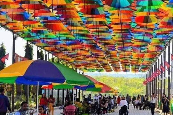 umbrella street chitwan