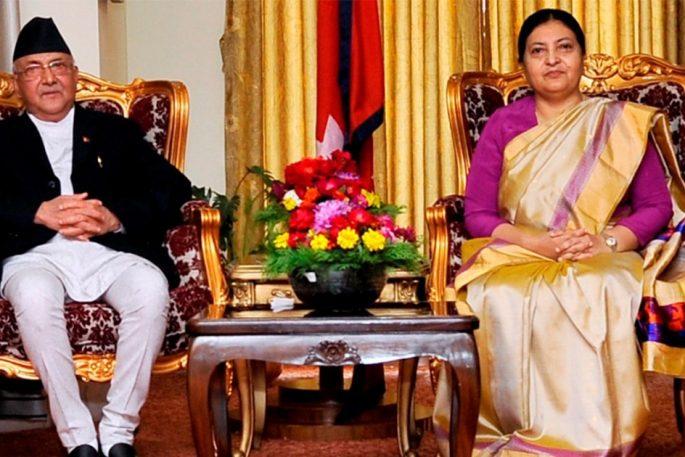 KP Sharma Oli Bidhya Devi Bhandari