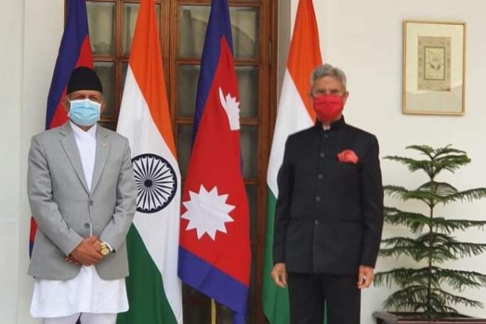 foreign ministers nepal india