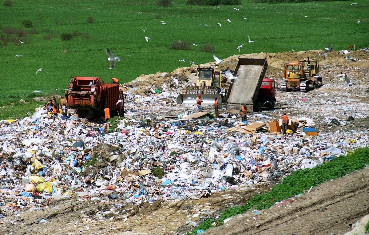 landfill dumping site