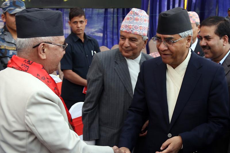 KP Sharma Oli Sher Bahadur Deuba Ram Chandra Paudel