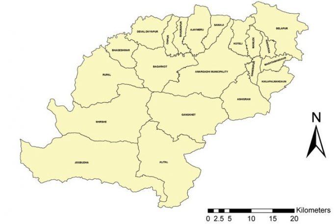 dadeldhura map