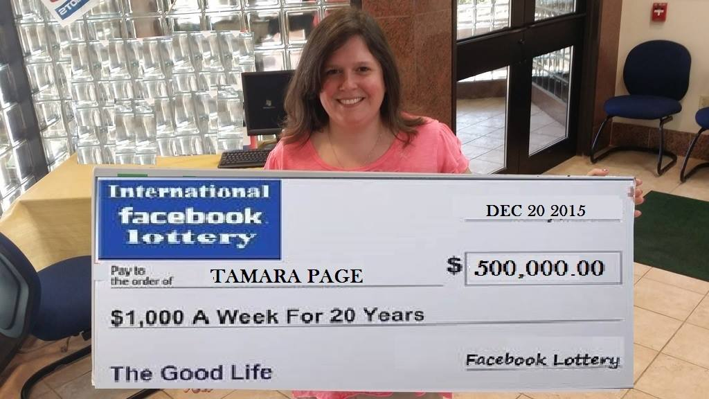 facebook lottery scam