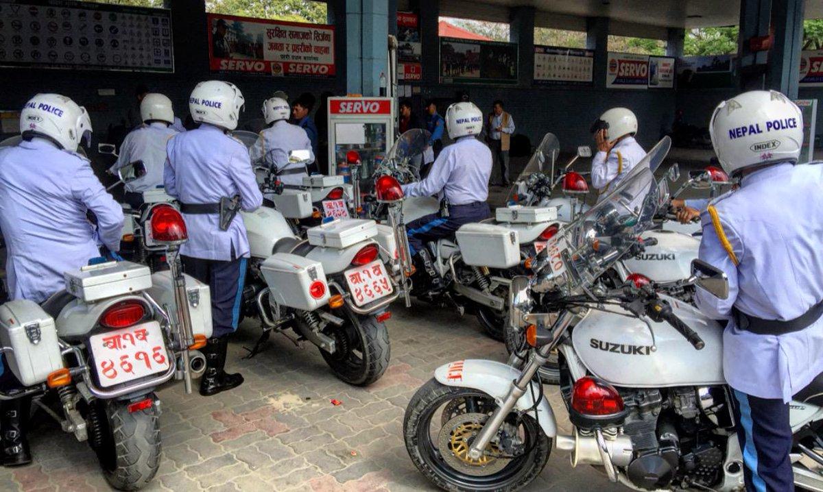 nepal police bikes