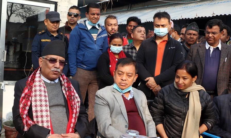 prachanda pushpakamal dahal in chitwan XrBkgAAknF