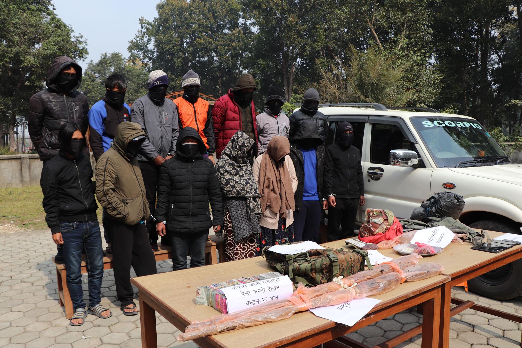 rhino poachers chitwan arrested