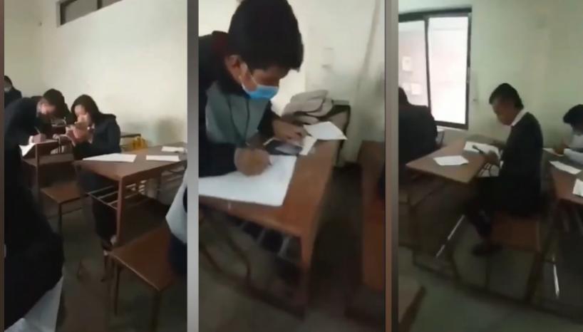 watch anarchy in exam student makes tiktok inside exam hall