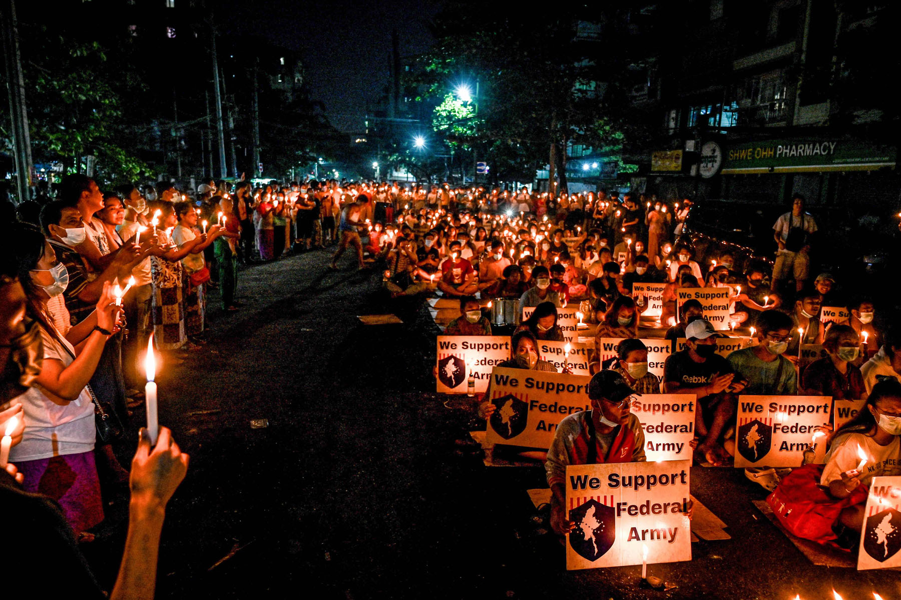 myanmar protest candle