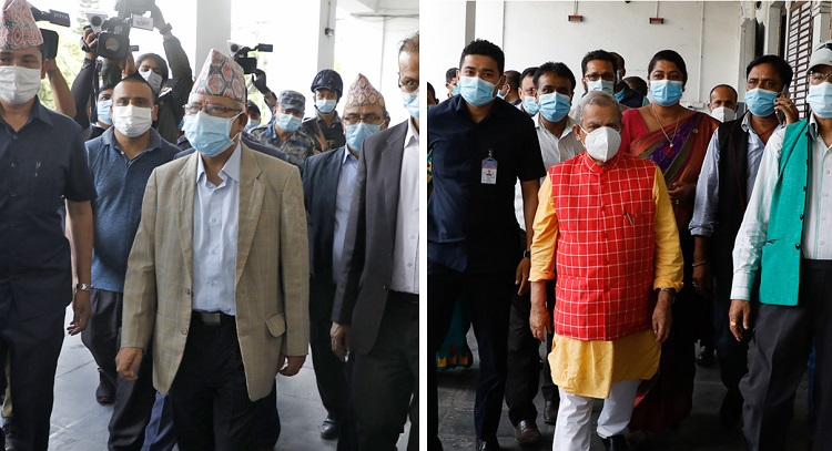 madhav kumar Nepal and mahantha thakur