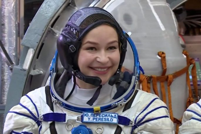 russian actress in space